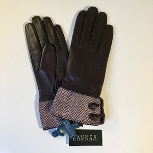 Ralph Lauren leather gloves, med – NWT